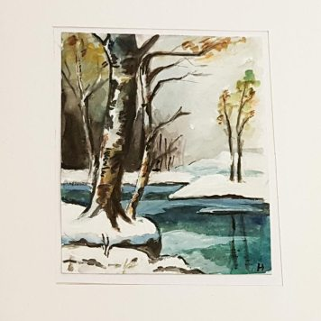 Christmas-card-hand-painted-original-personalised-christmas-card-winter-landscape