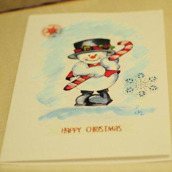 Christmas-card-hand-painted-watercolororiginal-print-winter-personalised-snowmenSwindon
