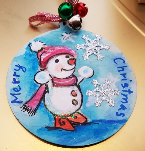 hand-painted--decorations-hand-painted-on-woodmice--personalized-snowmen-Christmas-merry-christmas