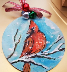 hand-painted--decorations-hand-painted-red-bird-cardinal--personalized-giftfor-Christmas-merry-christmas