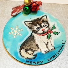 hand-paintedchrismas-tree-decorations-hand-painted-on-woodcat-portrait-personalized-giftfor-Christmas-kiten-merry-christmas