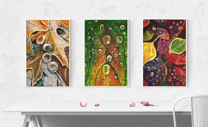 Seasons abstract paintings