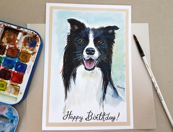 Personalised Pet Portrait GreetingsCards