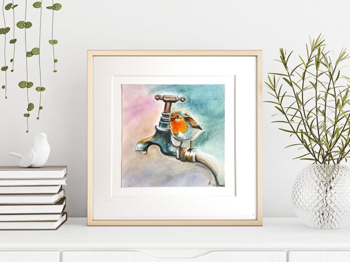 Robin- watercolour paintings